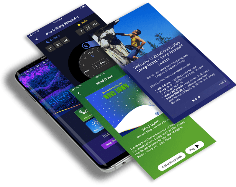 sllep giant app - multiple pages